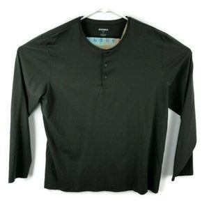 Bonobos Slim Fit Green L/S Henley Shirt